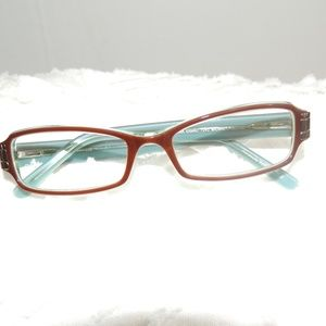 Norma Kamali Glasses Frames Brown/Teal